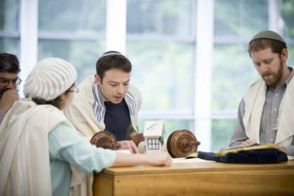 Hebrew College reading from Torah