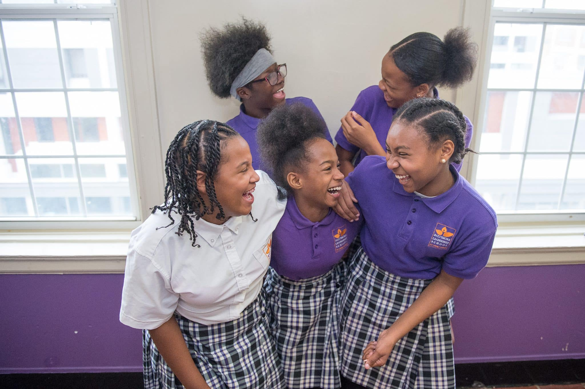 Baltimore-Leadership-School-for-Young-Women-students-laughing