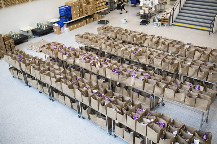 bags are filled at greater boston food bank