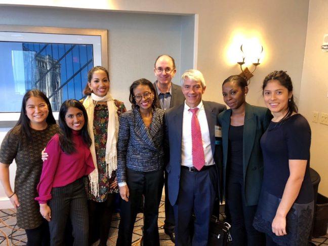 Bill Weber with AFP Diversity Fellows