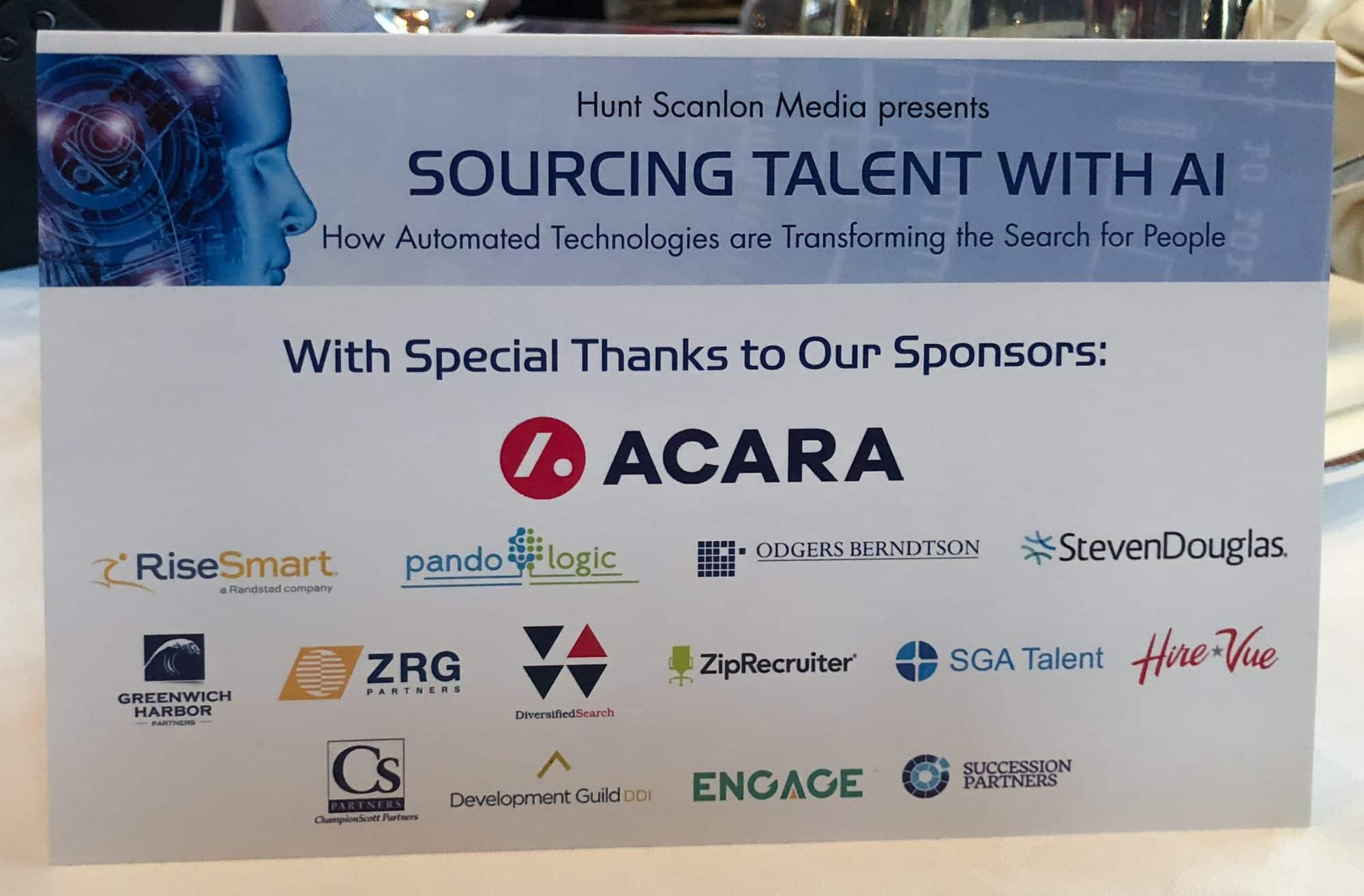Hunt Scanlon Conference Sponsors